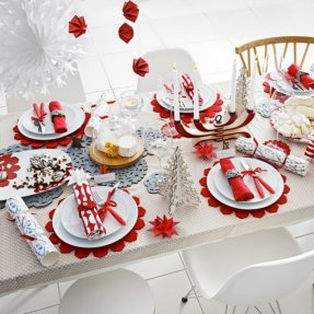 Идеи сервировки новогоднего стола 2017 с фото. Как сервировать
