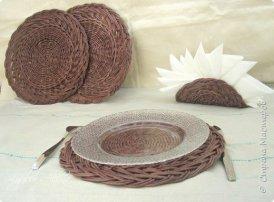 Плетеные салфетки для сервировки стола | oblacco