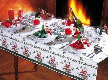 Сервировка новогоднего стола. Фото, аксессуары, свечи и т.д