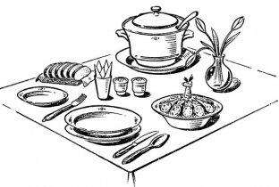 Сервировка стола к обеду [1981 Лабзина А.Я., Васильченко Е.В