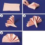 Как Свернуть Салфетку для Сервировки Стола Бумажные